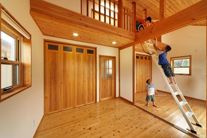 自然素材の家、無垢材の経年変化