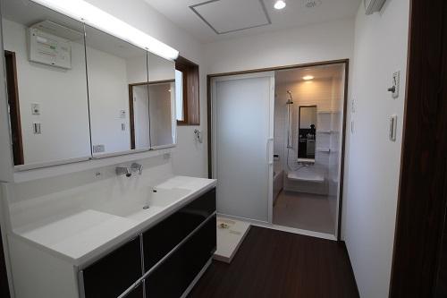 施工事例 京都市伏見区福島太夫南町の家 洗面化粧台