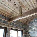 天井杉板施工