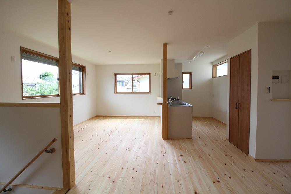 施工事例 63木の家 リビング