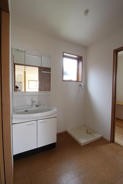 施工事例 木の家 洗面所